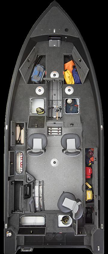 Alumacraft Competitor 205 Tiller layout öppen