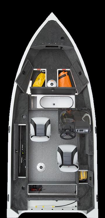 Alumacraft Escape 145 CS layout öppen