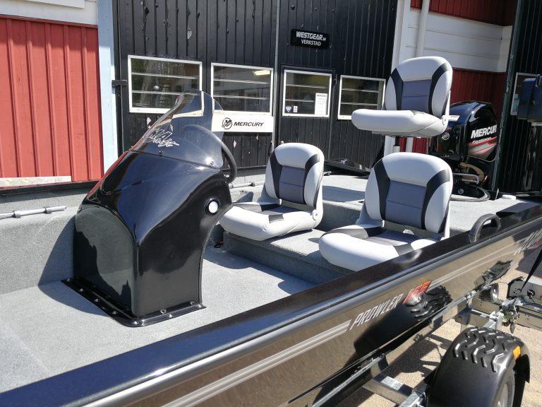 alumacraft prowler 165 båt boat cockpit