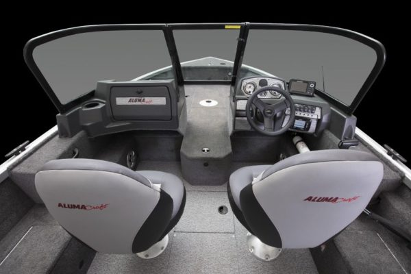 Alumacraft Voyaguer 175 Sport dubbelruta cockpit