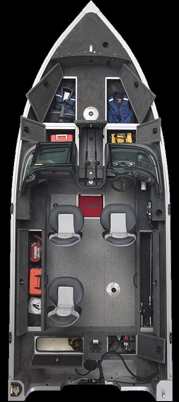 Alumacraft Voyaguer 175 Sport layout öppen